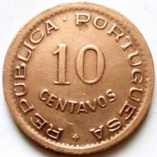 АНГОЛА 10 СЕНТАВО 1949 г.