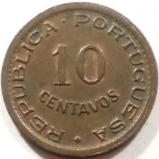 АНГОЛА 10 СЕНТАВО 1949 г. СОСТОЯНИЕ !