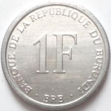 БУРУНДИ 1 ФРАНК 2003 г. UNC!