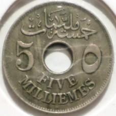 ЕГИПЕТ 5 МИЛЛИМ 1917 г.