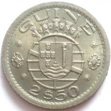 ГВИНЕЯ 2,5 ЭСКУДО 1952 г.