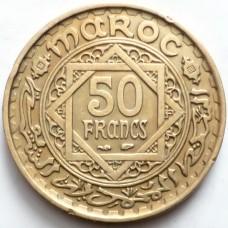 МАРОККО 5 ФРАНКОВ 1952 г.