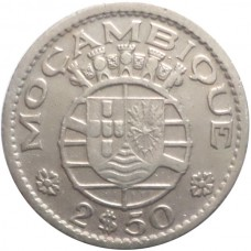 МОЗАМБИК 2,5 ЭСКУДО 1952 г.
