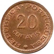 МОЗАМБИК 20 СЕНТАВО 1973 г.