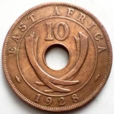 ВОСТОЧНАЯ АФРИКА 10 ЦЕНТОВ 1928 г. ГЕОРГ V.