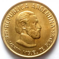 АРГЕНТИНА 50 СЕНТАВО 2000 г.  Мартин  Гуэмес. UNC ! ТИП-1 !РЕДКАЯ!