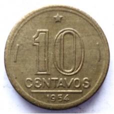 БРАЗИЛИЯ 10 СЕНТАВО 1954 г.