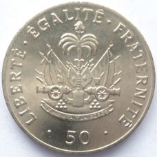 ГАИТИ 50 САНТИМ 1991 г. ТИП-1. UNC!