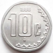 МЕКСИКА 10 СЕНТАВО 1996 г. UNC!