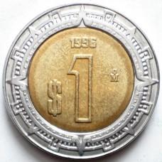 МЕКСИКА 1 ПЕСО 1996 г. ТИП-2. UNC!