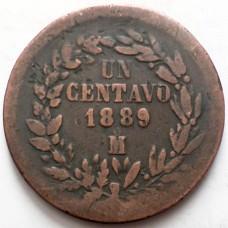 МЕКСИКА 1 СЕНТАВО 1889 г.