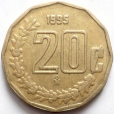 МЕКСИКА 20 СЕНТАВО 1995 г.