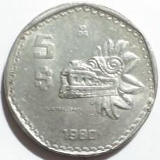 МЕКСИКА 5 ПЕСО 1980 г.