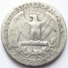 США 25 ЦЕНТОВ 1944 г. СЕРЕБРО!