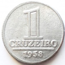 БРАЗИЛИЯ 1 КРУЗЕЙРО 1958 г.  СОСТОЯНИЕ!!!