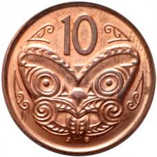НОВАЯ ЗЕЛАНДИЯ 10 ЦЕНТОВ 2006 г. UNC!