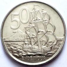 НОВАЯ ЗЕЛАНДИЯ 50 ЦЕНТОВ 2006-2009 г.