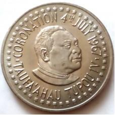 ТОНГА 1 ПААНГА 1967 г. Коронация Тауфаахау Тупоу IV. UNC!