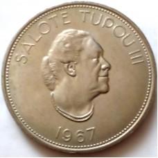 ТОНГА 1 ПААНГА 1967 г. Салоте Тупоу III.  UNC!