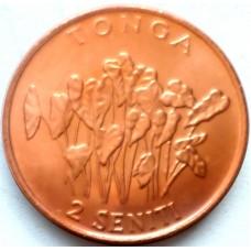 ТОНГА 2 СЕНИТИ 2002 г. UNC!