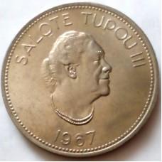 ТОНГА 50 СЕНИТИ 1967 г. Салоте Тупоу III.  UNC!