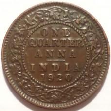 ИНДИЯ 1/4 АННЫ 1920 г. ГЕОРГ V.