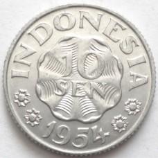 ИНДОНЕЗИЯ 10 СЕН 1954 г. UNC!