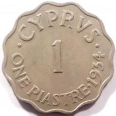 КИПР 1 ПИАСТР 1934 г. ГЕОРГ V.