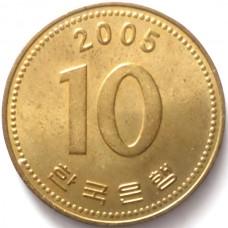 ЮЖНАЯ КОРЕЯ 10 ВОН 2005 г.