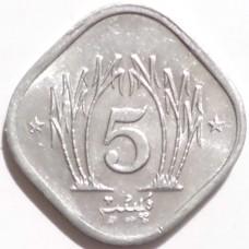 ПАКИСТАН 5 ПАЙСОВ 1990 г.