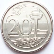 СИНГАПУР 20 ЦЕНТОВ 2013-2014 г. UNC!