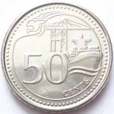 СИНГАПУР 50 ЦЕНТОВ 2013-2015 г. UNC!