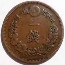 ЯПОНИЯ 1 СЕН 1877 г. ТИП-1. РЕДКАЯ!