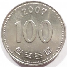 ЮЖНАЯ КОРЕЯ 100 ВОН 2007 г.