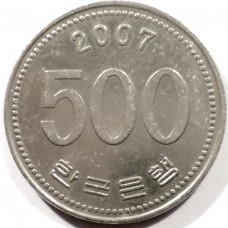 ЮЖНАЯ КОРЕЯ 500 ВОН 2007 г.