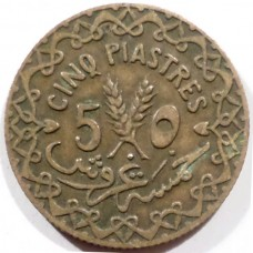 СИРИЯ 5 ПИАСТРОВ 1935 г.