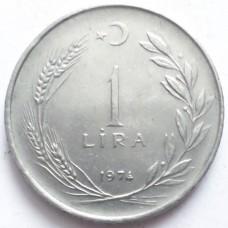 ТУРЦИЯ 1 ЛИРА 1974 г.