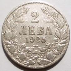 БОЛГАРИЯ 2 ЛЕВА 1925 г. Poissy