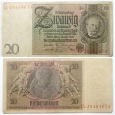 ГЕРМАНИЯ 20 МАРОК 1929 г.