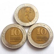 ИЗРАИЛЬ 10 ШЕКЕЛЕЙ 1995 г. ГОЛДА МЕЙЕР !!! ЛЮБАЯ НА ВЫБОР.