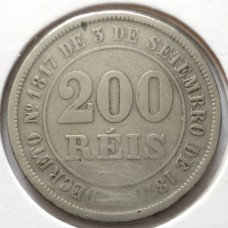 БРАЗИЛИЯ 200 РЕЙС 1882 г.