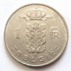 БЕЛЬГИЯ 1 ФРАНК 1966 г. -GIE