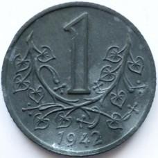 БОГЕМИЯ И МОРАВИЯ 1 КРОНА 1942 г.