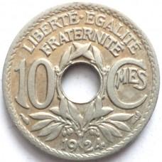 ФРАНЦИЯ 10 САНТИМ 1924 г.