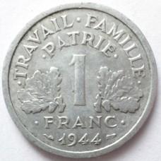 ФРАНЦИЯ 1 ФРАНК 1944 г.