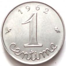 ФРАНЦИЯ 1 САНТИМ 1962 г.