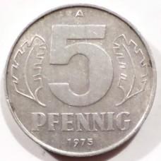 ГДР 5 ПФЕННИГОВ 1975 г.