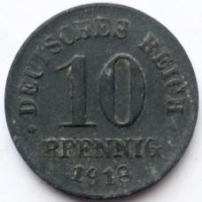 ГЕРМАНИЯ 10 ПФЕННИГОВ 1918 г.