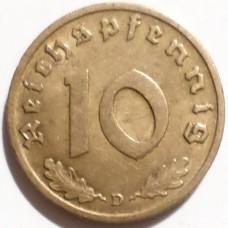 ГЕРМАНИЯ 10 ПФЕННИГОВ 1939 г.