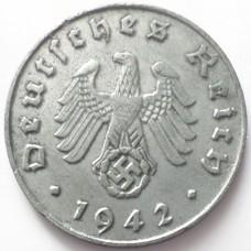 ГЕРМАНИЯ 1 ПФЕННИГ 1942 г. В